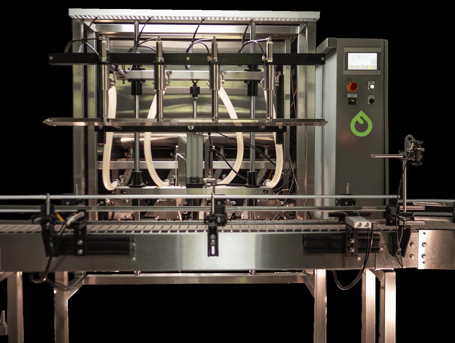 Fluid Solutions 4 Head Positive Displacement Automatic Pump Filler